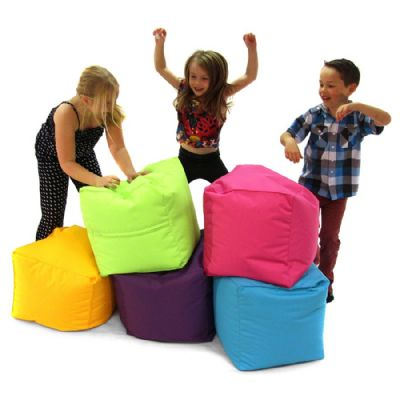 Bean Bag Cubes,soft seating,furniture,early years resources, educational resources, educational materials, childrens learning resources, childrens learning materials, teaching resources for children, teaching material for children